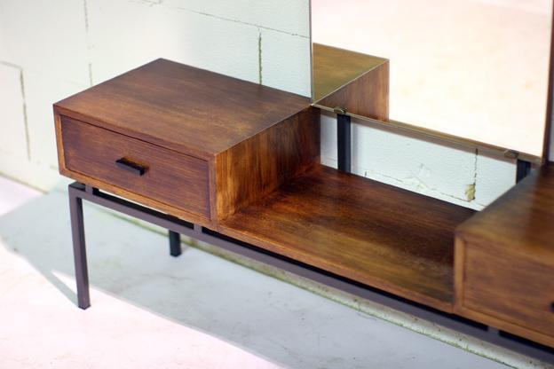 Retro vintage make up meubel jaren 60 pastoe dehuiszwaluw for Jaren 50 60 meubels