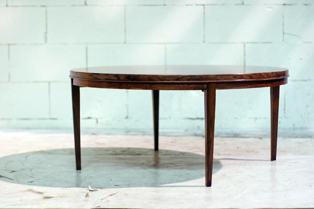 Retro Tafel Rond : Schitterende retro vintage palissander deens salontafel rond