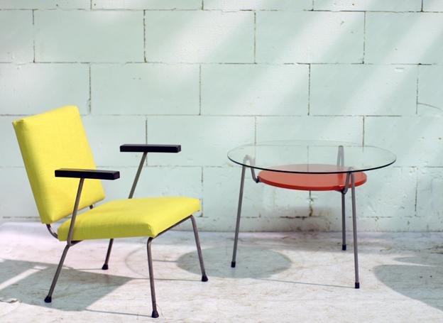 Gispen Wim Rietveld fauteuil jaren 60 Retro Vintage  u2013 Dehuiszwaluw