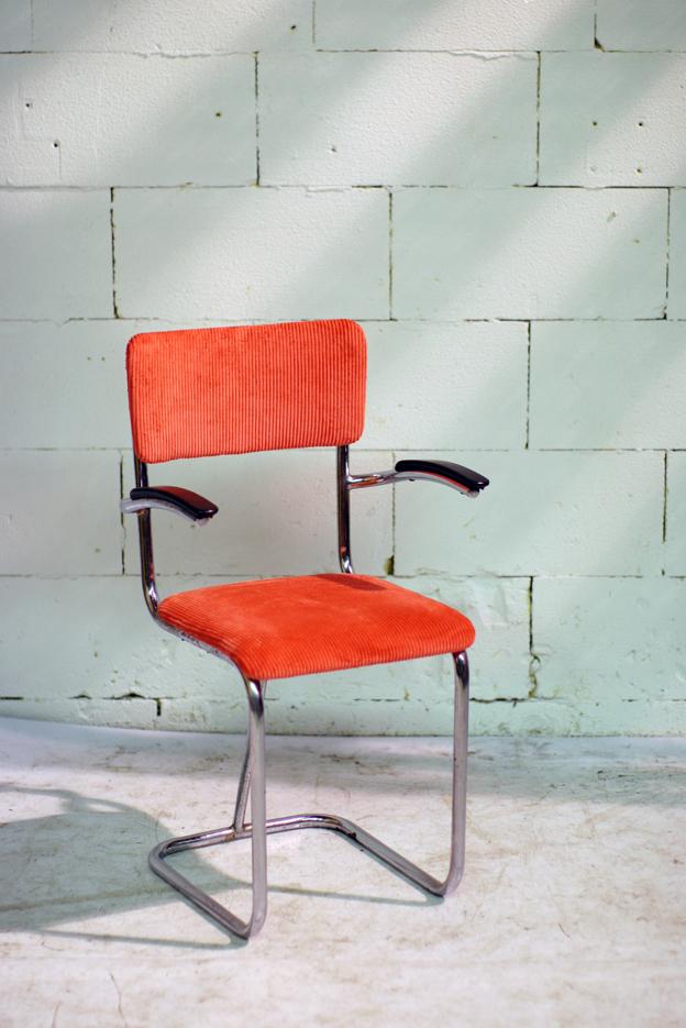 Originele Gispen Bureaustoel.Gispen Stoel Jaren 50