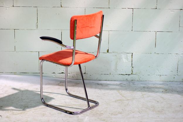 Gispen Vintage stoel met nieuwe (echte oude) Ribstof  u2013 Dehuiszwaluw