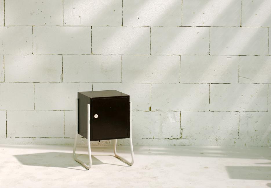 Metalen Kast Retro : Retro vintage nachtkastje of bijzetkastje metaal en hout