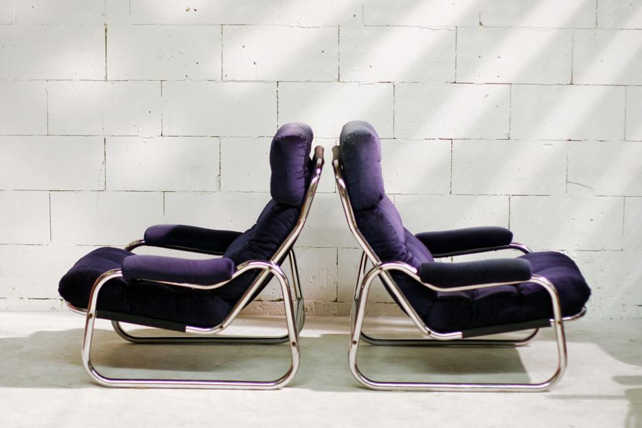 Schitterende retro vintage buisframe chrome fauteuils for Mooie design fauteuils
