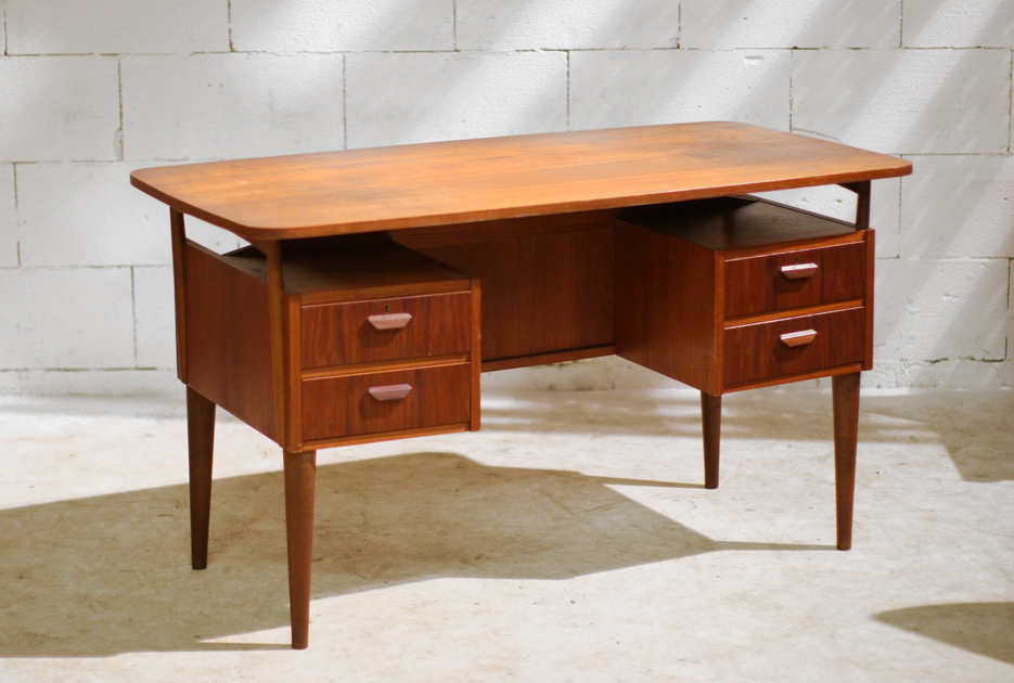 prachtig deens retro vintage directie desk bureau jaren 50 dehuiszwaluw. Black Bedroom Furniture Sets. Home Design Ideas