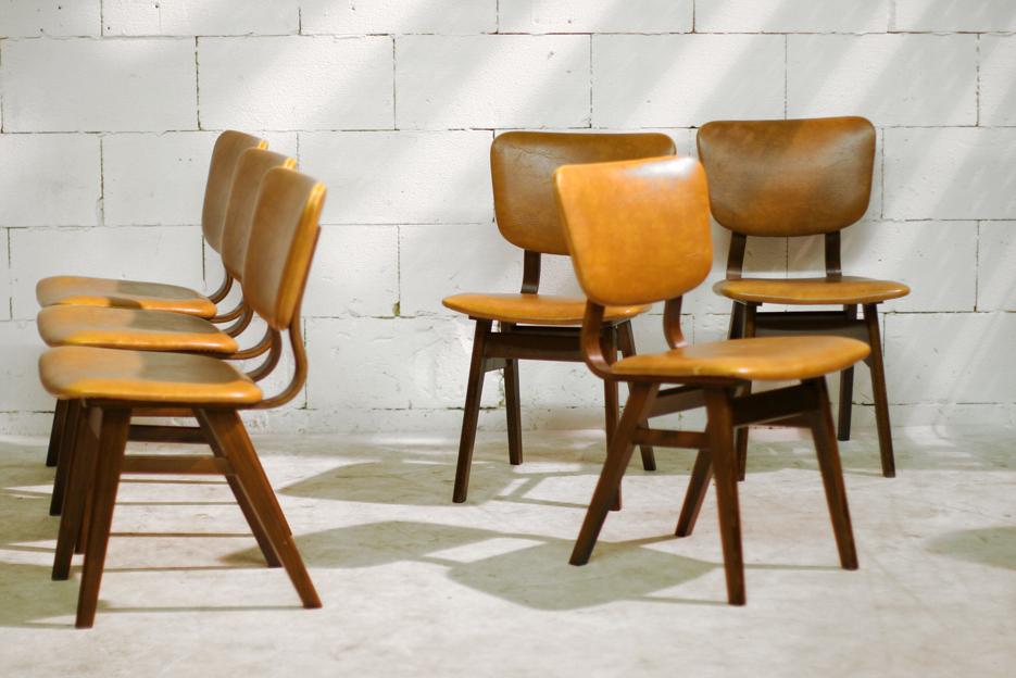 6 retro vintage stoelen uit de jaren 50 60 dehuiszwaluw for Vintage stoelen