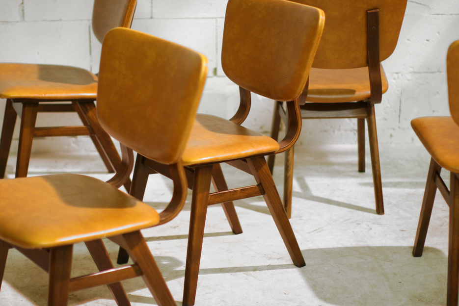 6 Retro Vintage stoelen uit de jaren 50  u2013 60   Dehuiszwaluw
