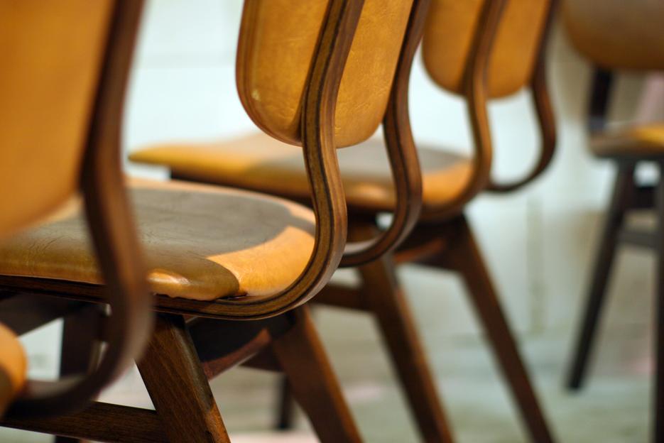 6 Retro Vintage stoelen uit de jaren 50  u2013 60  u2013 Dehuiszwaluw