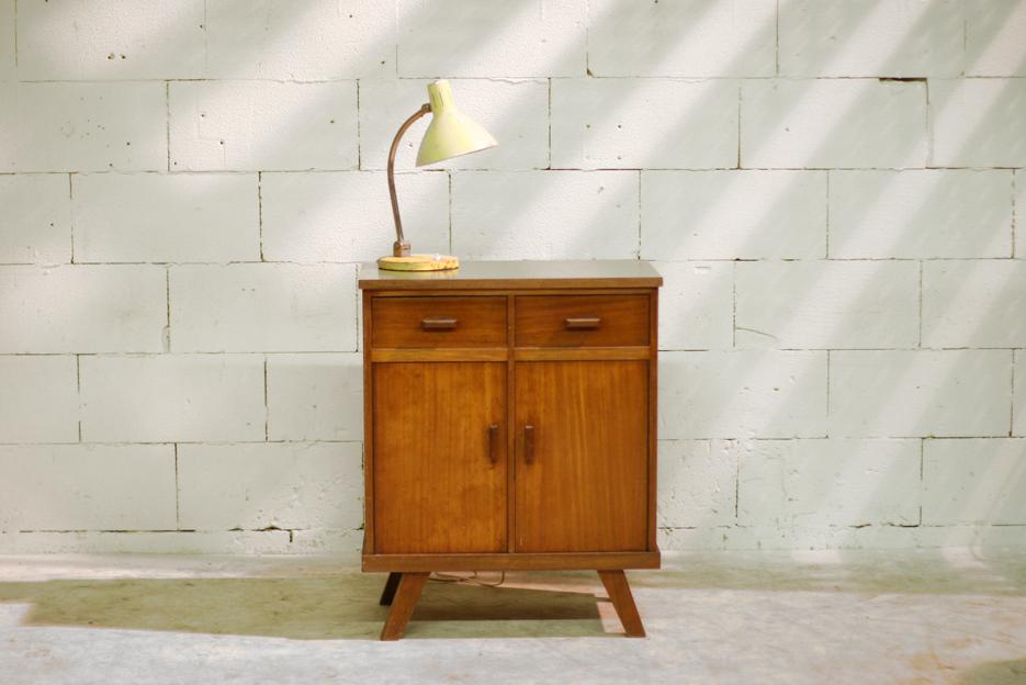 Vintage Kastje Jaren 70.Retro Vintage Dressoir Keukenkast Bijzetkast Jaren 50
