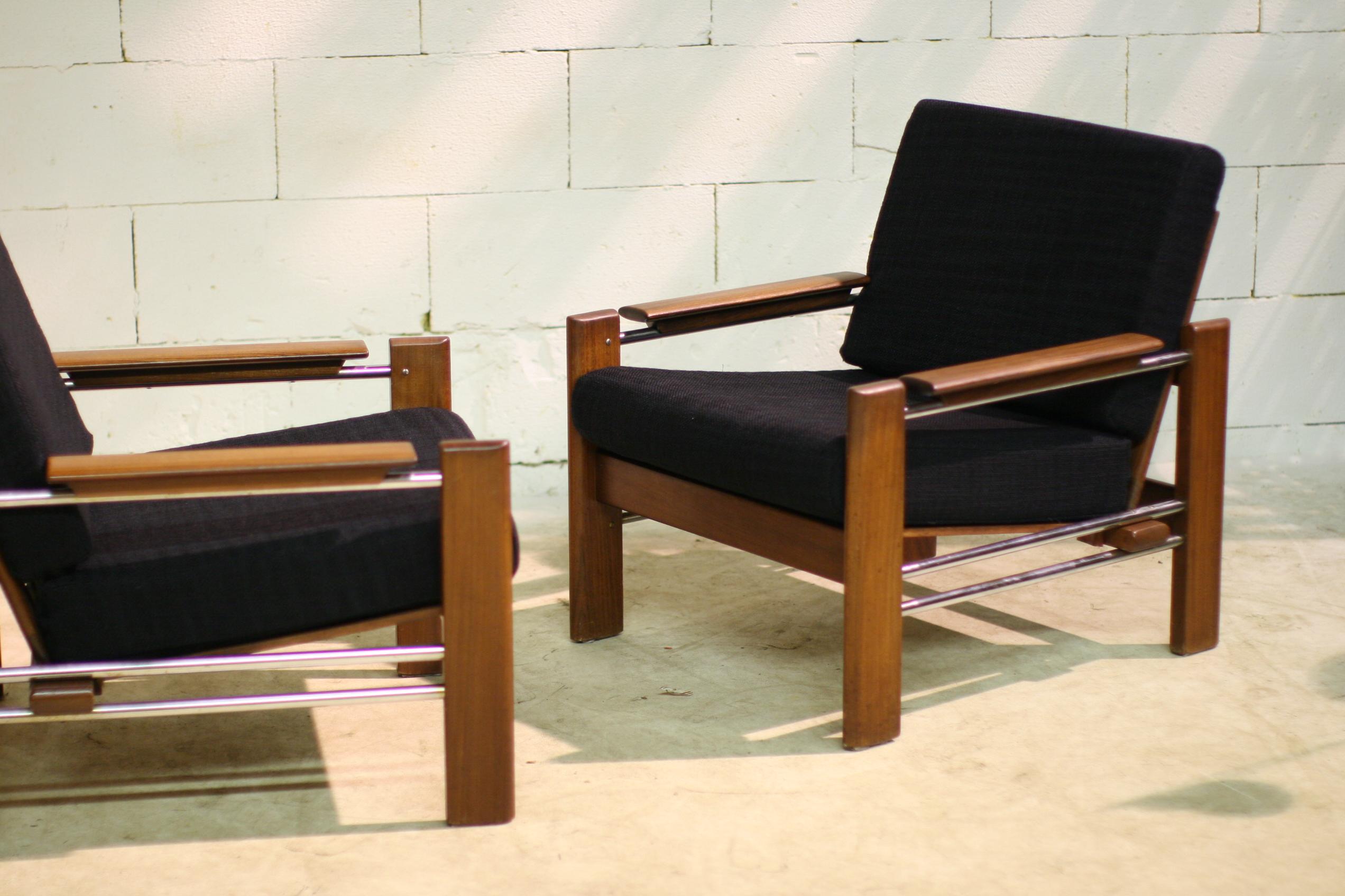 Top retro vintage fauteuils chroom teak nieuw gestoffeerd dehuiszwaluw - De meest comfortabele fauteuils ...