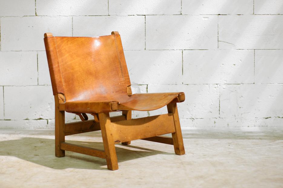 Stoere retro vintage tuigleer safari fauteuil jaren 50 dehuiszwaluw - De meest comfortabele fauteuils ...