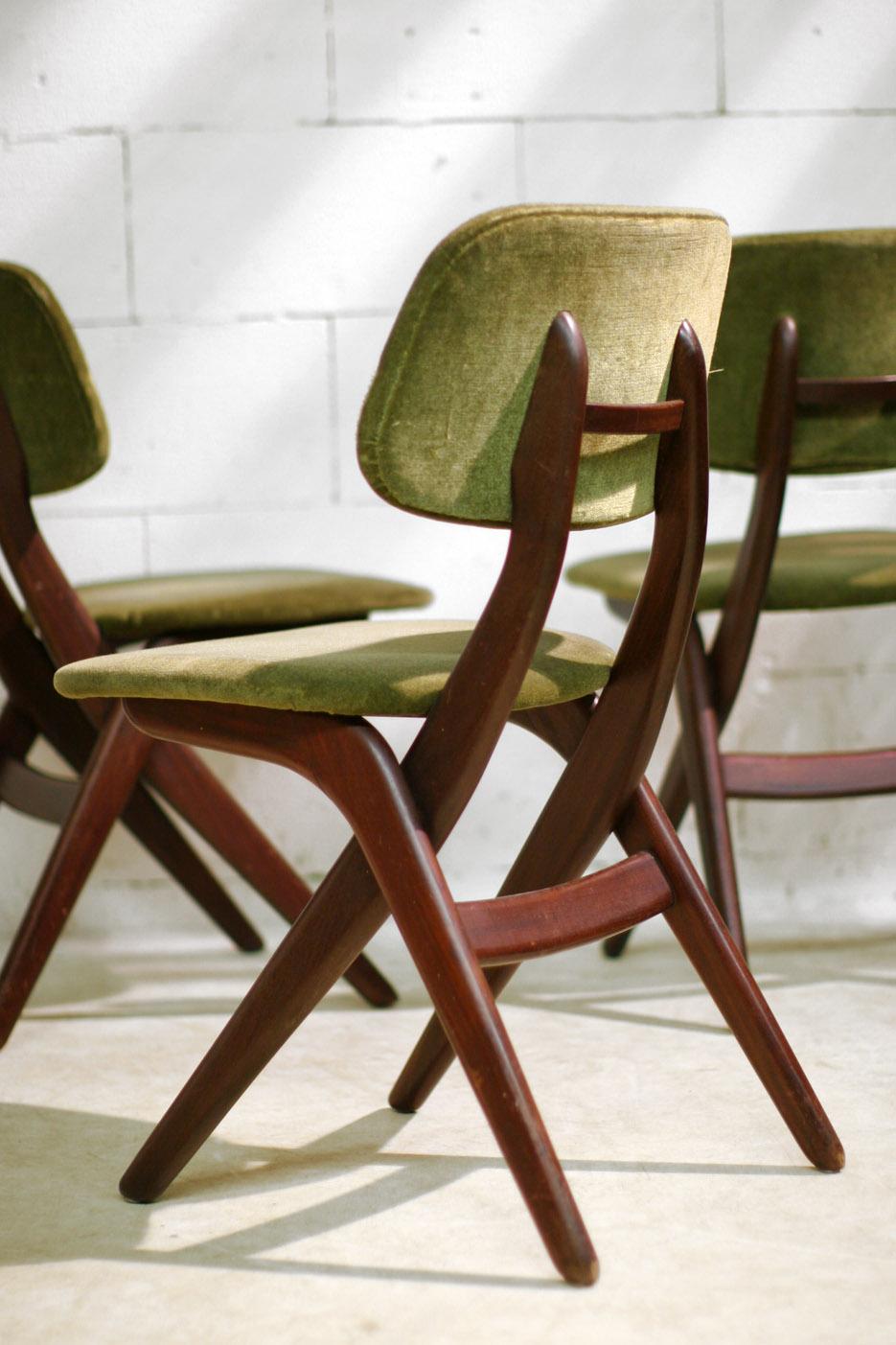 Retro Vintage Louis van Teeffelen stoelen Webe jaren 60  u2013 Dehuiszwaluw