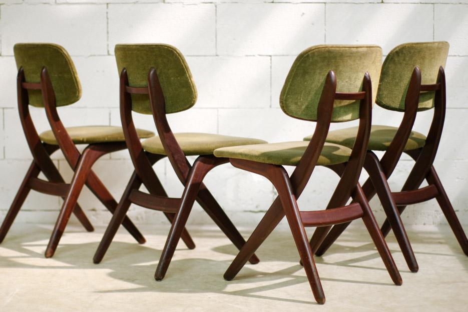 Retro Vintage Louis van Teeffelen stoelen Webe jaren 60   Dehuiszwaluw