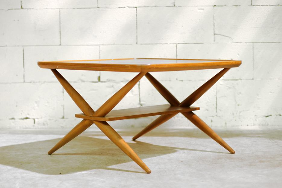 ... Retro Vintage salontafel, eettafel Subliem ontwerp! ? Dehuiszwaluw