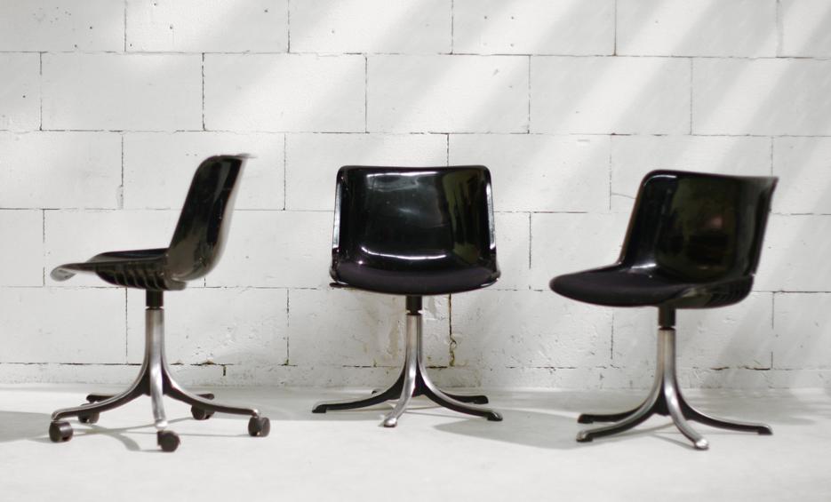 Retro vintage osvaldo borsani tecno stoelen uit de jaren