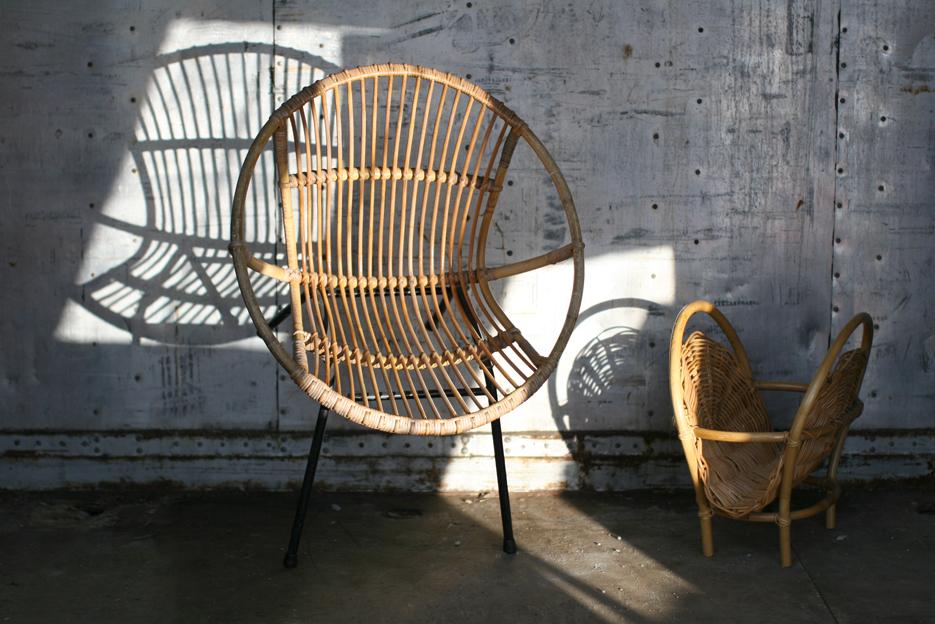 retro vintage rohe fauteuil of kuipstoel jaren 60