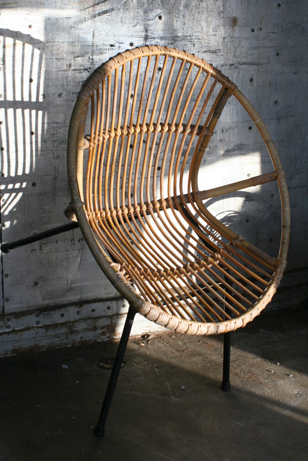 Retro vintage rohe fauteuil of kuipstoel jaren 60 for Kuipstoel fauteuil