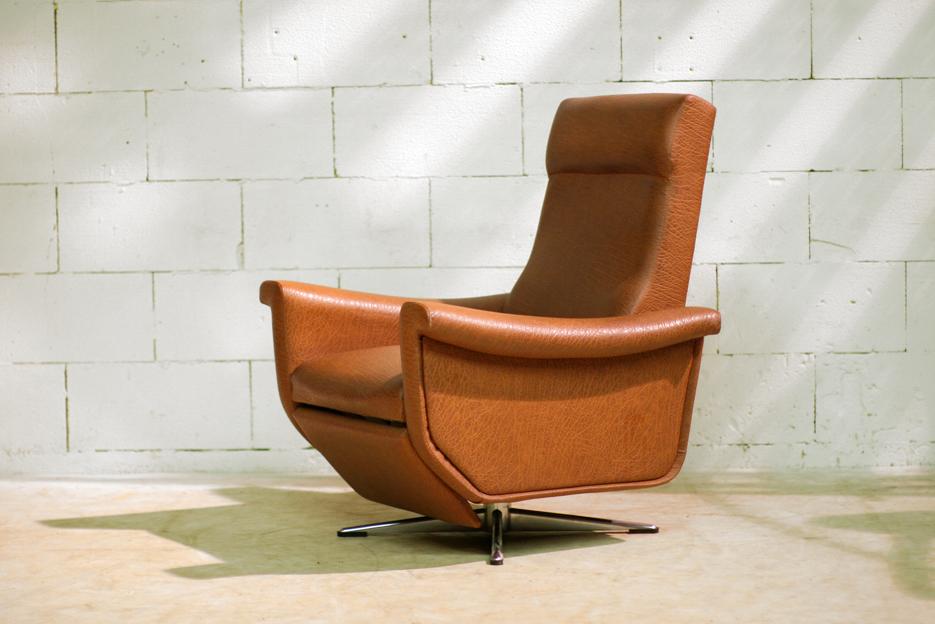 Retro vintage relax fauteuil easy chair in topstaat dehuiszwaluw - Comfortabele fauteuils ...