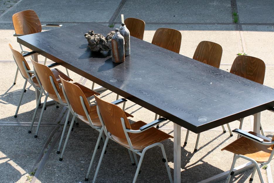 Industri le vintage xxxl eettafel 3 meter lang dehuiszwaluw for Schreibtisch 3 meter lang