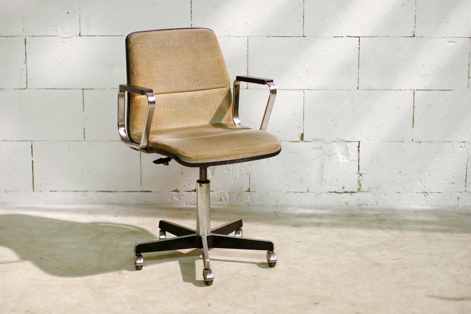 Retro vintage gispen bureaustoel op wielen vroeg jaren 60 for Bureaustoel vintage