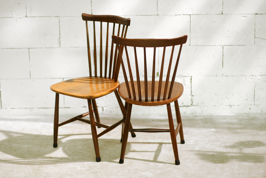 Retro Vintage spijlen stoelen ontworpen door Cees Braakman verkocht ...