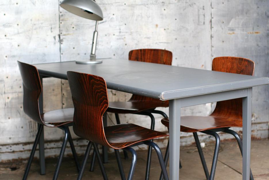 Industrieel vintage a r cordemeijer gispen tafel jaren