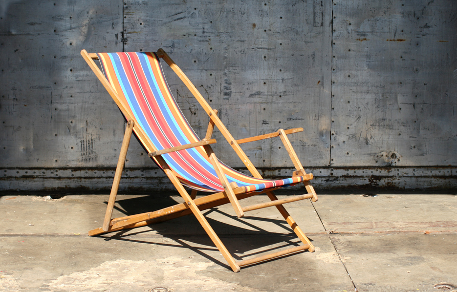 Retro Vintage Strandstoel Jaren 60 Vrolijke Kleuren