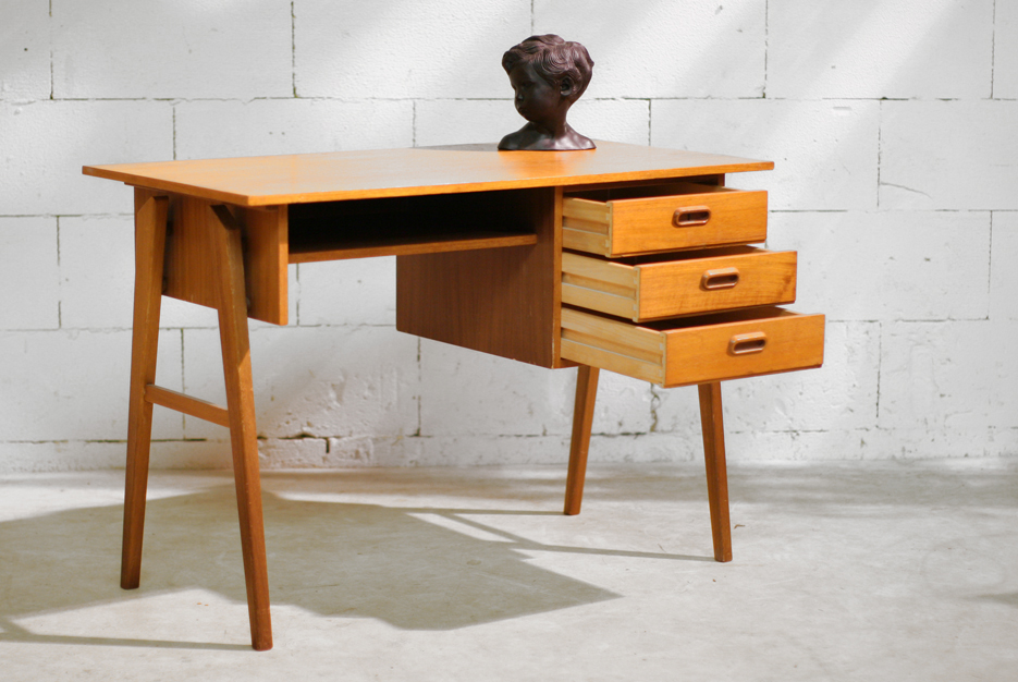 retro vintage pastoe cees braakman bureau uit de jaren 60 dehuiszwaluw. Black Bedroom Furniture Sets. Home Design Ideas
