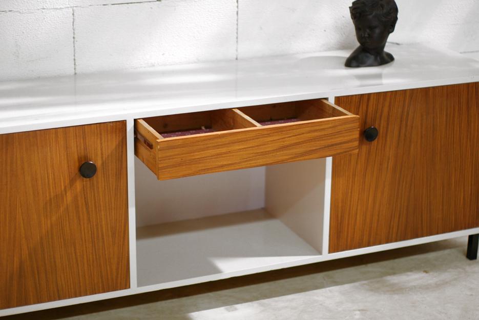Retro Vintage dressoir uit de jaren 50 Teak en creme wit ...