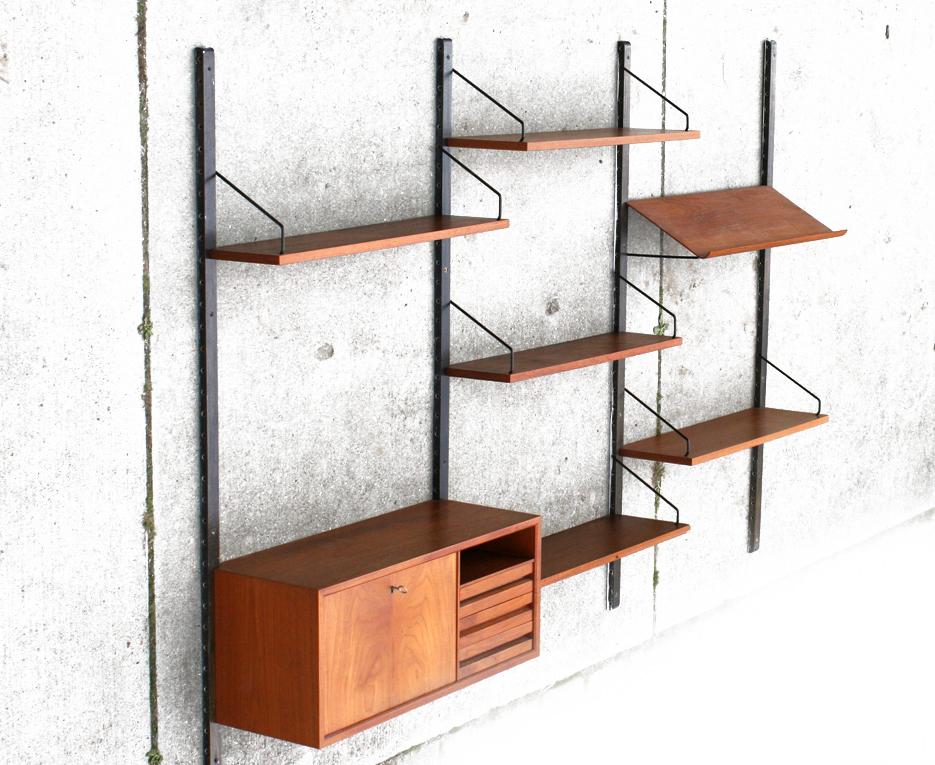 Retro Vintage Cadovius Royal System Wandsysteem jaren 60
