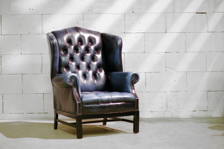 Retro vintage chesterfield oorstoel fauteuil u dehuiszwaluw