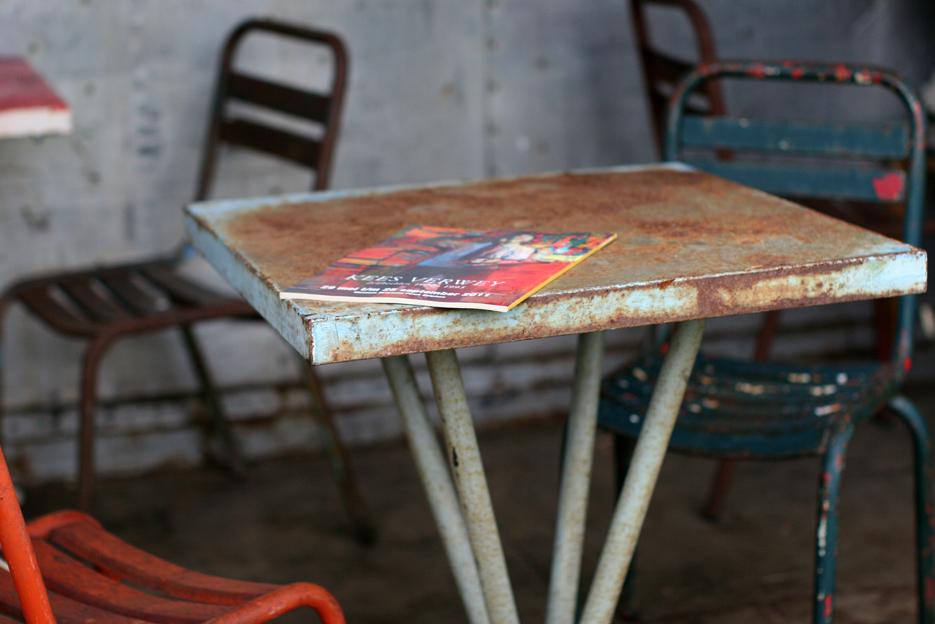 Terras Stoelen Tafels.Industrieel Vintage Franse Ijzeren Terras Stoelen Jaren 50