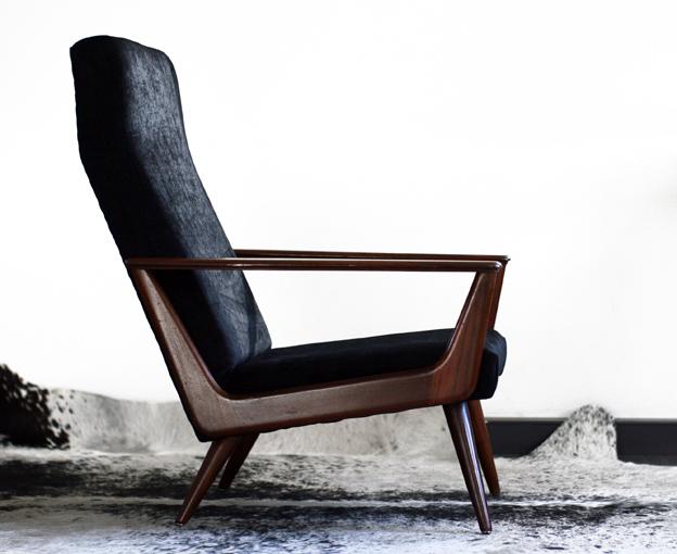 Waanzinnig mooie retro vintage deense fauteuil jaren 50 for Mooie design fauteuils