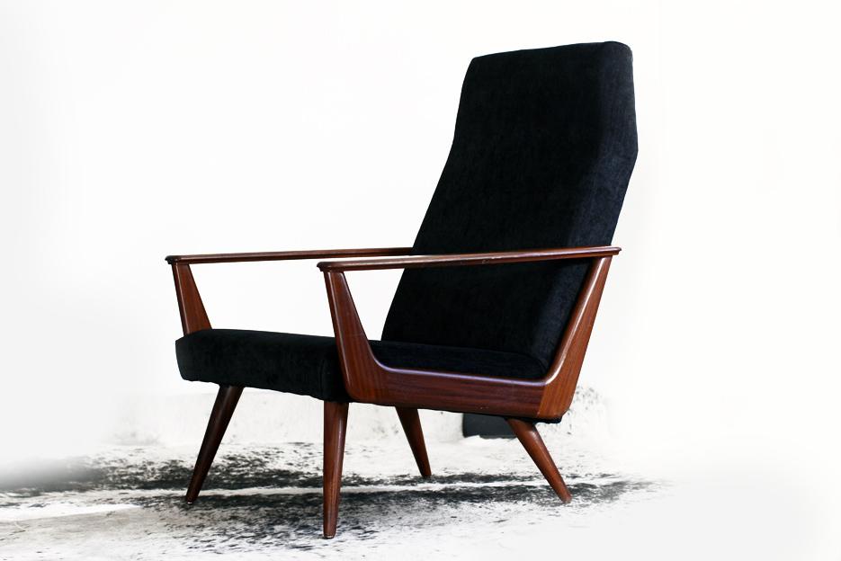 waanzinnig mooie retro vintage deense fauteuil jaren 50 dehuiszwaluw. Black Bedroom Furniture Sets. Home Design Ideas