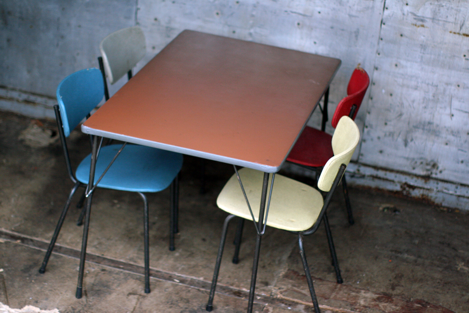 Industriele vintage wim rietveld gispen top tafel model 3705