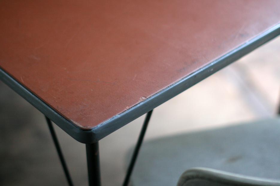 Industriele vintage wim rietveld gispen top tafel model