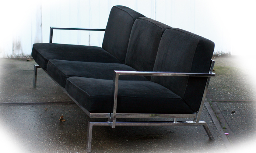 Innovation chroom en zwarte retro look driezitsbank dehuiszwaluw - Na de zwarte bank ...
