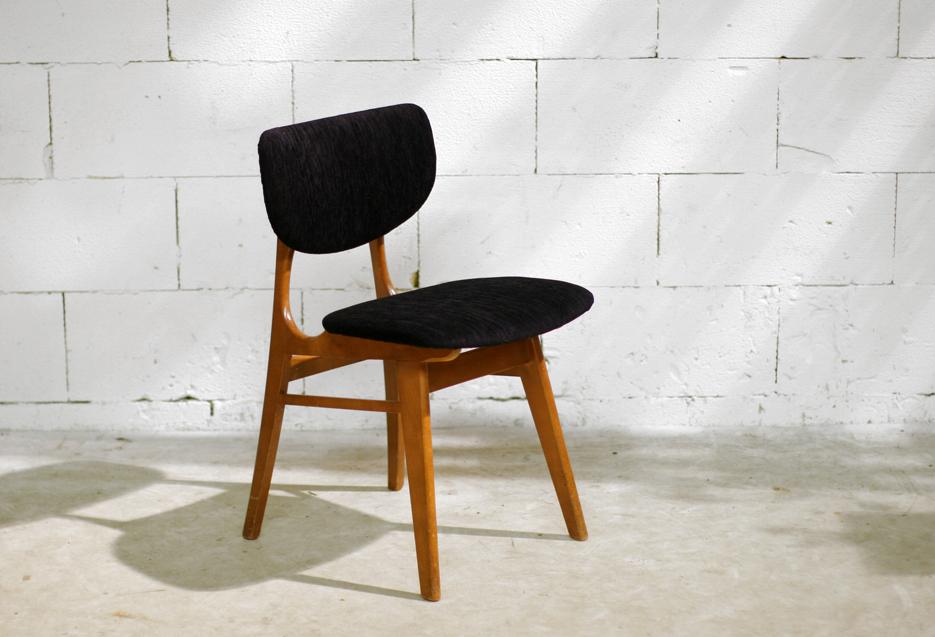 Retro vintage stoel jaren 60 nieuwe stoffering dehuiszwaluw - Stoel nieuwe kunst ...