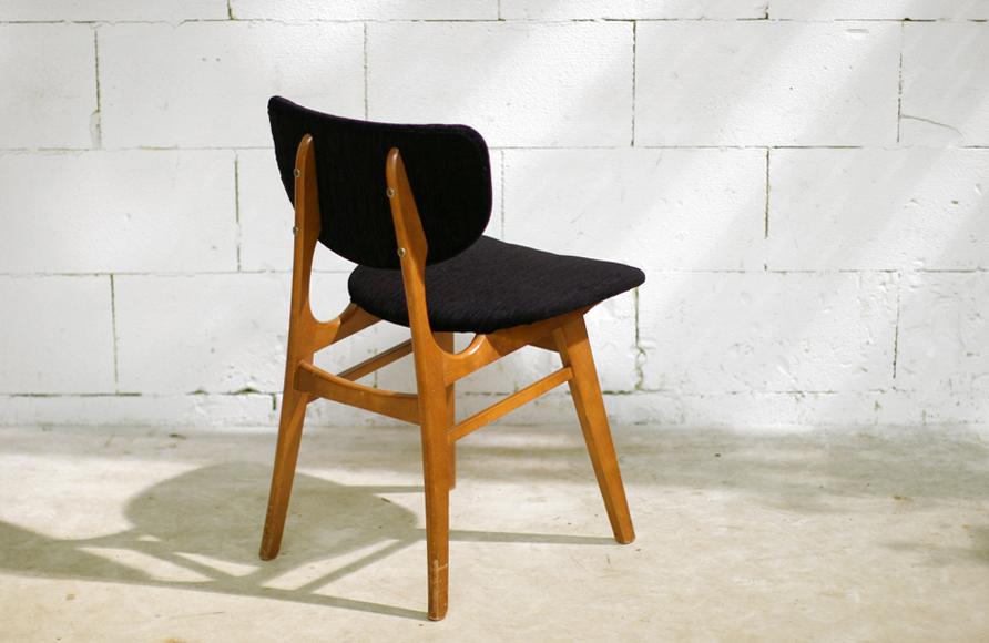Retro Vintage stoel jaren 60 nieuwe stoffering – Dehuiszwaluw