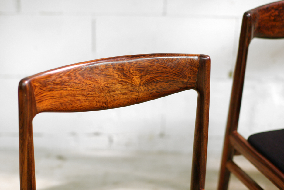 Retro Vintage Palissander stoelen nieuwe stoffering nr  3  4  u2013 Dehuiszwaluw