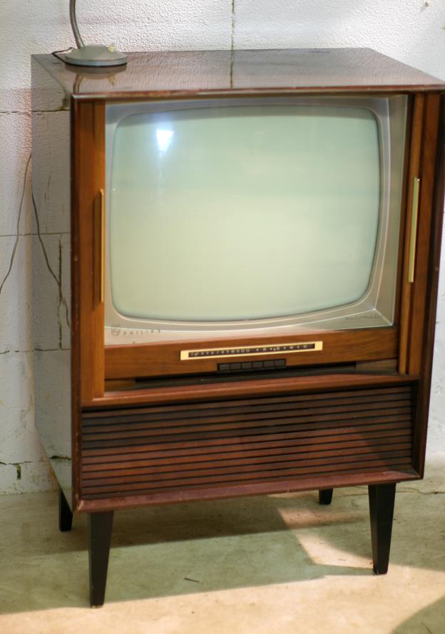Zeer Retro Vintage Philips Automatic jaren 60 tv meubel dressoir &GN19