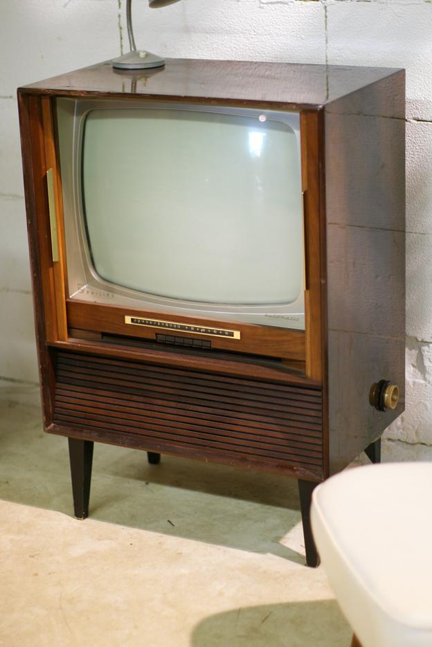 Retro Vintage Philips Automatic Jaren 60 Tv Meubel