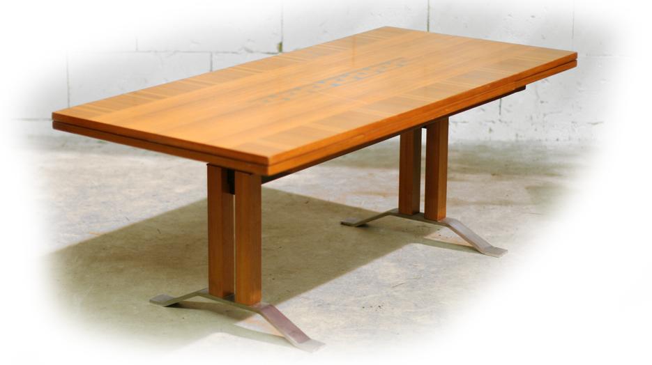 Retro vintage tafel uitschuifbaar en in hoogte verstelbaar for Retro tafel