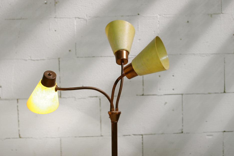 TOP Retro Vintage lamp glasfiber kapjes 4 standen fifties – Dehuiszwaluw