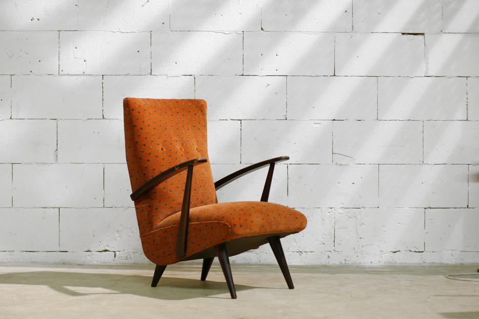 Retro vintage fauteuil jaren mooi ontwerp u dehuiszwaluw