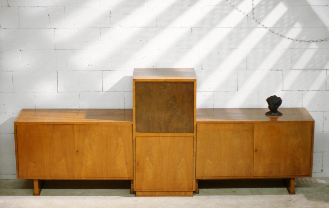 Gallery of ruim meter lang vintage art deco dressoir met for Sideboard 3 meter lang