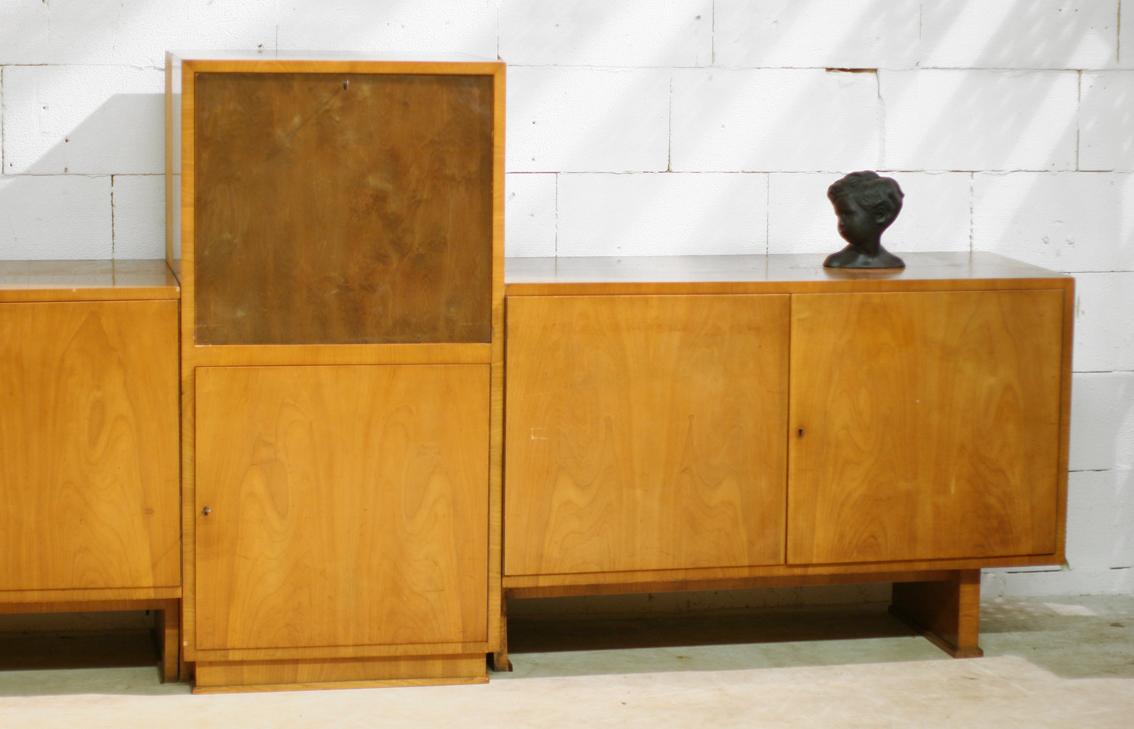 Haagse School Meubels : Paar haagse school nachtkastjes ontwerp paul bromberg voor pander