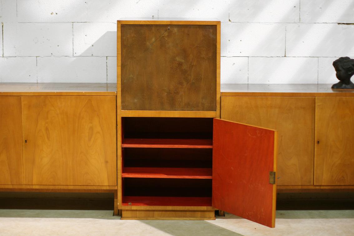 Xxl vintage art deco strak dressoir haagse school for Bureau 1 metre