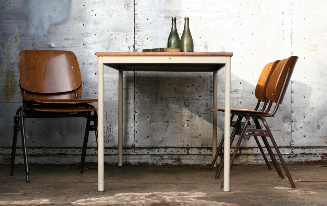 Industrieel Vintage Plywood Marko Schoolstoelen jaren 60 ...