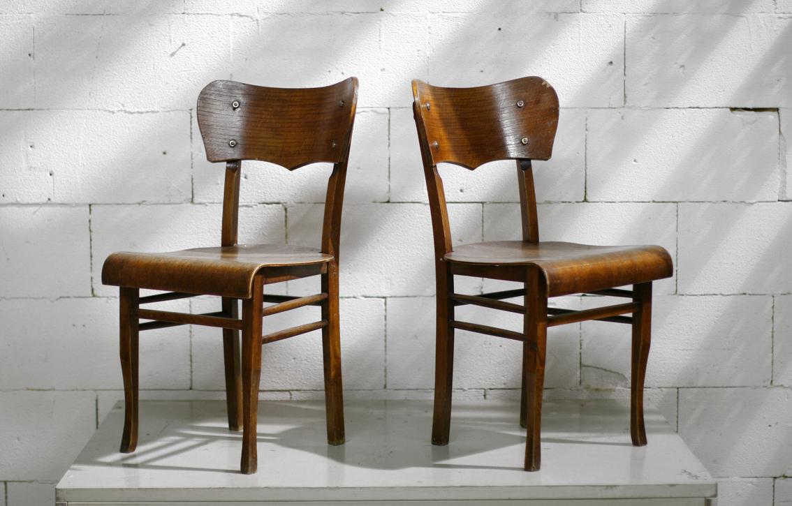 Vintage hartvorm houten stoelen of cafestoelen u2013 Dehuiszwaluw