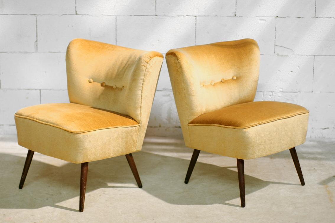 Cocktail Stoel Vintage : Retro stoel geel buisert stoel okerbruin grijs with retro stoel